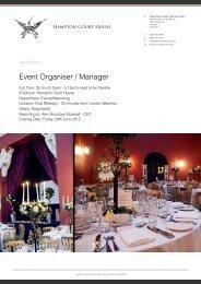 View Full Job Description (PDF) - Hampton Court House Events