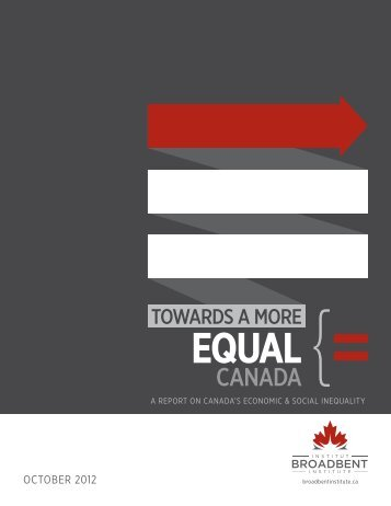 Towards a More Equal - Vibrant Canada