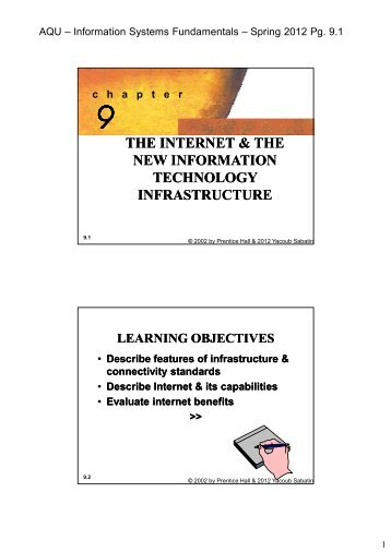 the internet & the new information technology infrastructure - E4t.net