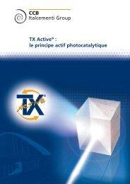 La plaquette TX Active - CCB