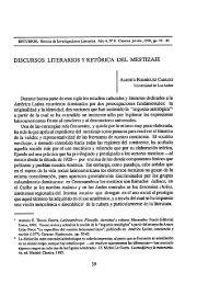 discursos literarios y retórica del mestizaje - Estudios – Revista de ...