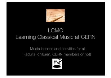 LCMC Learning Classical Music at CERN - HEPHY
