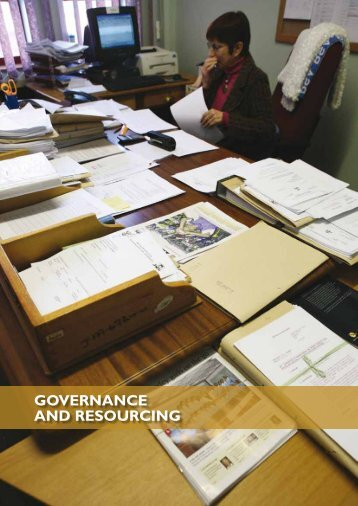 GOVERNANCE AND RESOURCING - National Prosecuting Authority