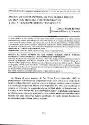 malena de cinco mundos, de ana teresa torres - Estudios – Revista ...