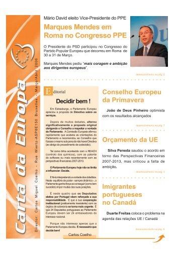 Março/Abril - Carlos Coelho