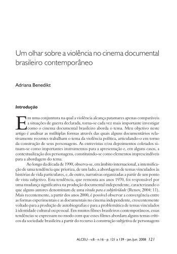 Um olhar sobre a violência no cinema ... - Alceu - PUC-Rio