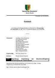 Gemeinderatssitzung vom 24.06.2010 (113 KB) - .PDF - Ehenbichl