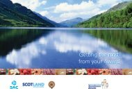 Getting the most from your Award - Scotland Food and Drink