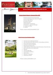 1 Centara Hotels & Resorts Opportunities for you Please contact ...