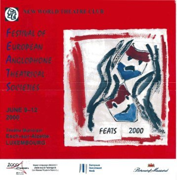 Festival of European Anglophone Theatrical Societies - FEATS