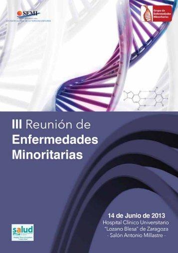 III Reunión de Enfermedades Minoritarias - Sociedad Española de ...