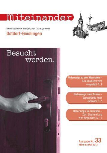 März 2013 - Evangelische Kirchengemeinde Ostdorf-Geislingen