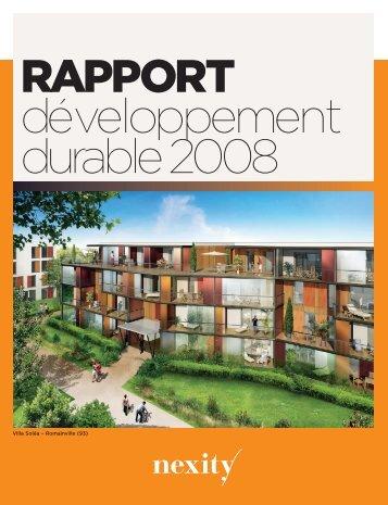 Téléchargez le Rapport développement durable 2008 (.pdf ... - Nexity