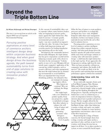 triple bottom line theory