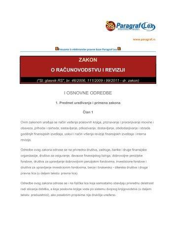 Zakon o računovodstvu i reviziji