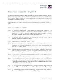 Histoire de la sociétéPDF, 508,54 kB - Welser Profile AG