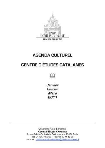 agenda - Université Paris-Sorbonne