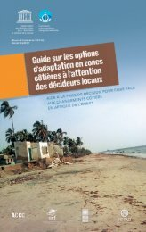 Guide sur les options d'adaptation en zones ... - unesdoc - Unesco