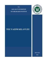 Yeni Tez Yazım Kılavuzunda - Fen Bilimleri Enstitüsü - Kocaeli ...