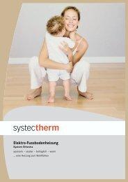 Elektro-Fussbodenheizung - Systec Therm AG