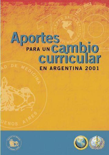 Aportes para un Cambio Curricular en Argentina 2001 - FMV