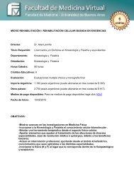 MICRO REHABILITACIÓN I: REHABILITACIÓN CELULAR ... - FMV