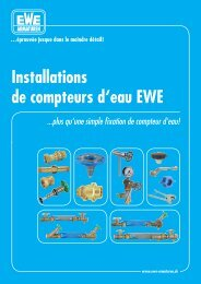 Installations de compteurs d'eau EWE