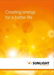 Creating energy for a better life - Systems Sunlight S.A.