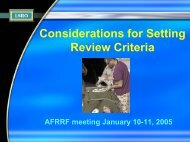 Considerations For Setting Review Criteria - Life Sciences Research ...