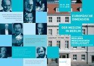 europäische dimension der medizin in berlin - Berliner Medizinische ...