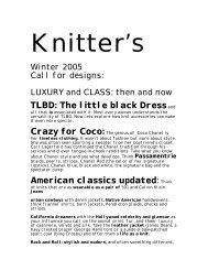 TLBD: The little black Dressand American ... - Knitting Universe
