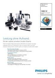 Leaflet HR7775 00 Released Switzerland (German) High ... - Philips