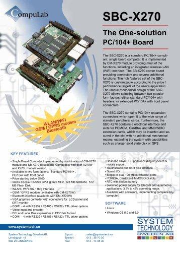 SBC-X270 - System Technology Sweden AB