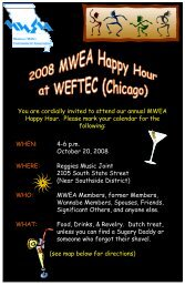 You are cordially invited to attend our annual MWEA Happy Hour ...