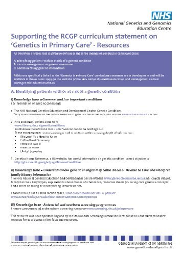 Supporting RCGP curriculum statement resources.indd - National ...