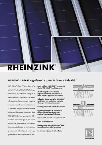 """RHEINZINK® - """"Solar FV Aggraffatura"""" e -""""Solar FV ... - Alpewa S.r.l."""