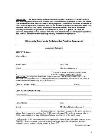 Collaborative Practice Prescribing Agreement Template