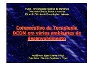 Comparativo da Tecnologia DCOM em vários ambientes de ... - Furb