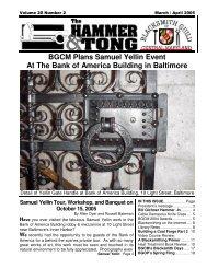 BGCM Plans Samuel Yellin Event At The Bank - Blacksmith Guild of ...