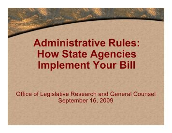 Administrative Rules - Utah State Legislature