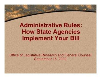 Administrative Rules - Utah State Legislature