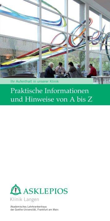 Praktische Informationen und Hinweise von A bis Z