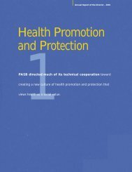 Health Promotion and Protection - PAHO Publications Catalog