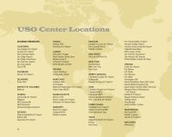 USO Center Locations