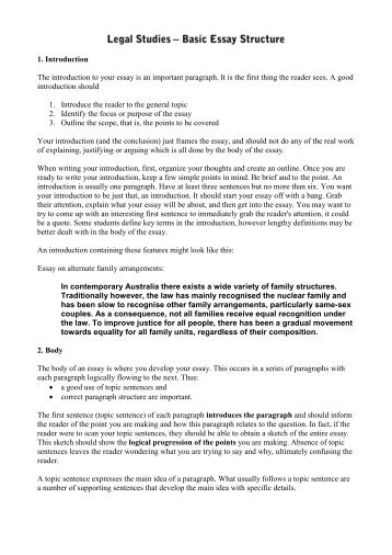 structure of a general expository essay introduction body introduction the introduction to your essay is an important