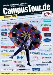 Tourhandbuch Sommer 2010 - CampusTour.de