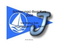 S(icherungs)-Boot Kurs 2008 - Segelclub Fischen eV