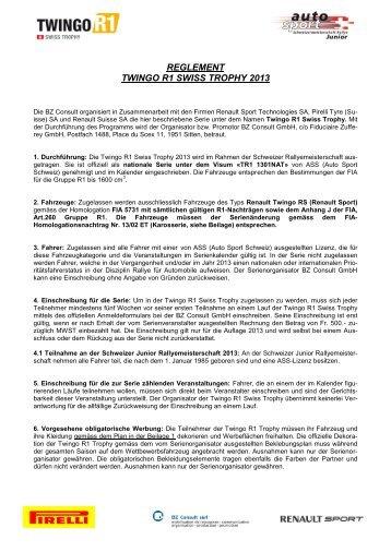 reglement provisoire twingo r1 swiss trophy 2012 - Deviens ...