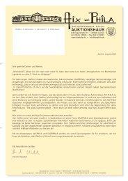 Sehr geehrte Damen und Herren - Aix-Phila Briefmarken GmbH