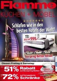 Schlafen wie in den besten Hotels der Welt! - Flamme Möbel Köln